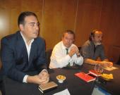 Vicente Almenara junto a Iván González y Francisco Javier Rodríguez