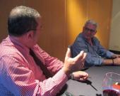 Vicente Almenara entrevistando a Miguel Such