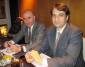 Vidal Setien y Feliciano Macías antes de sus ponencias